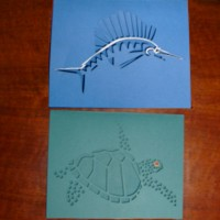 Winter holiday Sailfish and Turtle