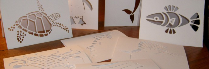 Cut Out Cards - SeaShape Series created originally for Aquarium & Arts Council competiton.